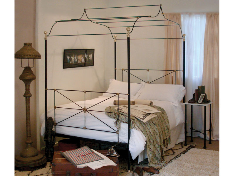 Iron Four Poster Bed bespoke metal beds