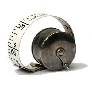 Old metal measure