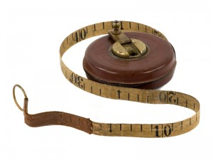 Old wooden tape measure