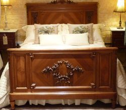 Edwardian & Inlaid Wooden Beds