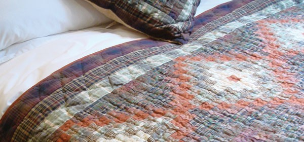 Stamp Terracotta Patchwork Quilt