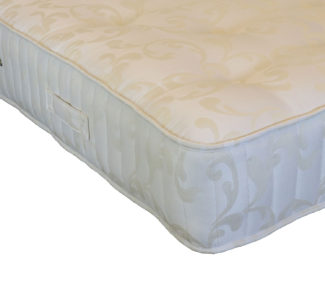 Victoria Mattress in Cream Damask