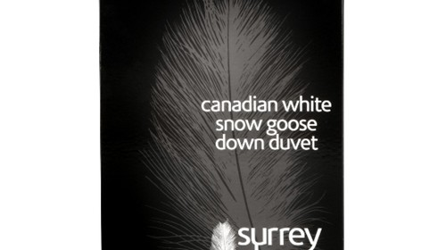 Canadian White Snow Goose Down – 3 tog to 13.5 tog