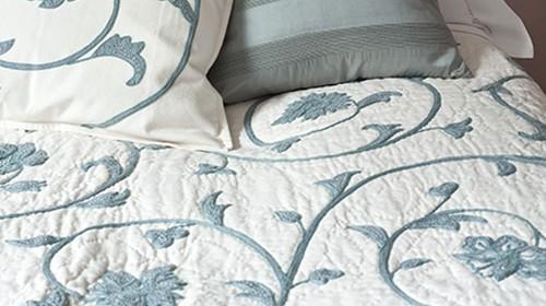 Amalfi Blue Cotton Quilt