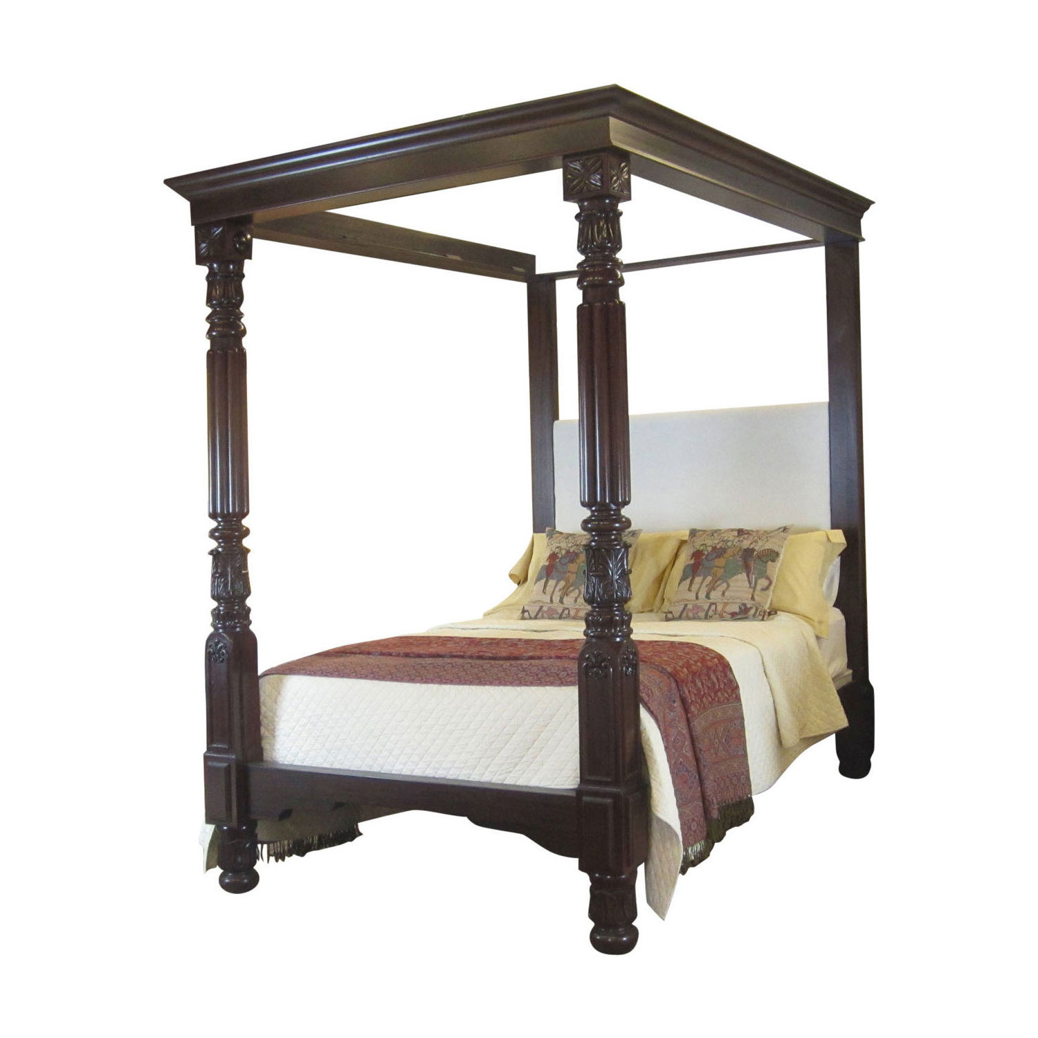 wooden four poster bed w4p3