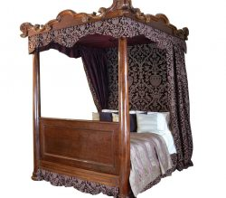 William IV mahogany four poster bed
