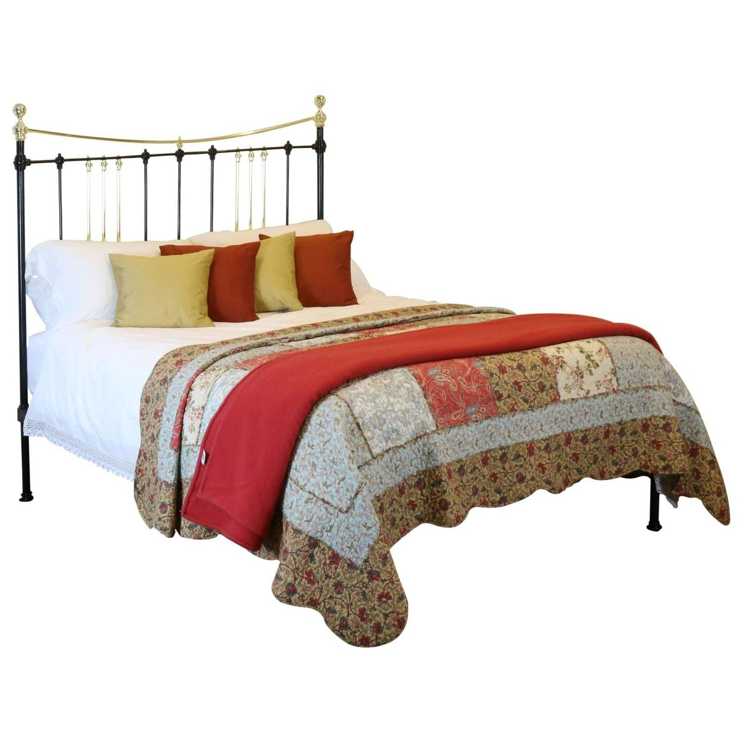 Brass and Iron Platform Bed