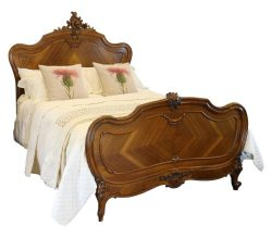 Walnut Louis XV Style Bed