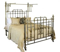 All Brass Antique Half Tester Bed