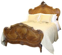 Walnut Louis XV Bed - WK65