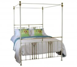 Cream Metal Four Poster Bed M4P17