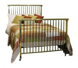 Art Deco Double Brass Bed MD44