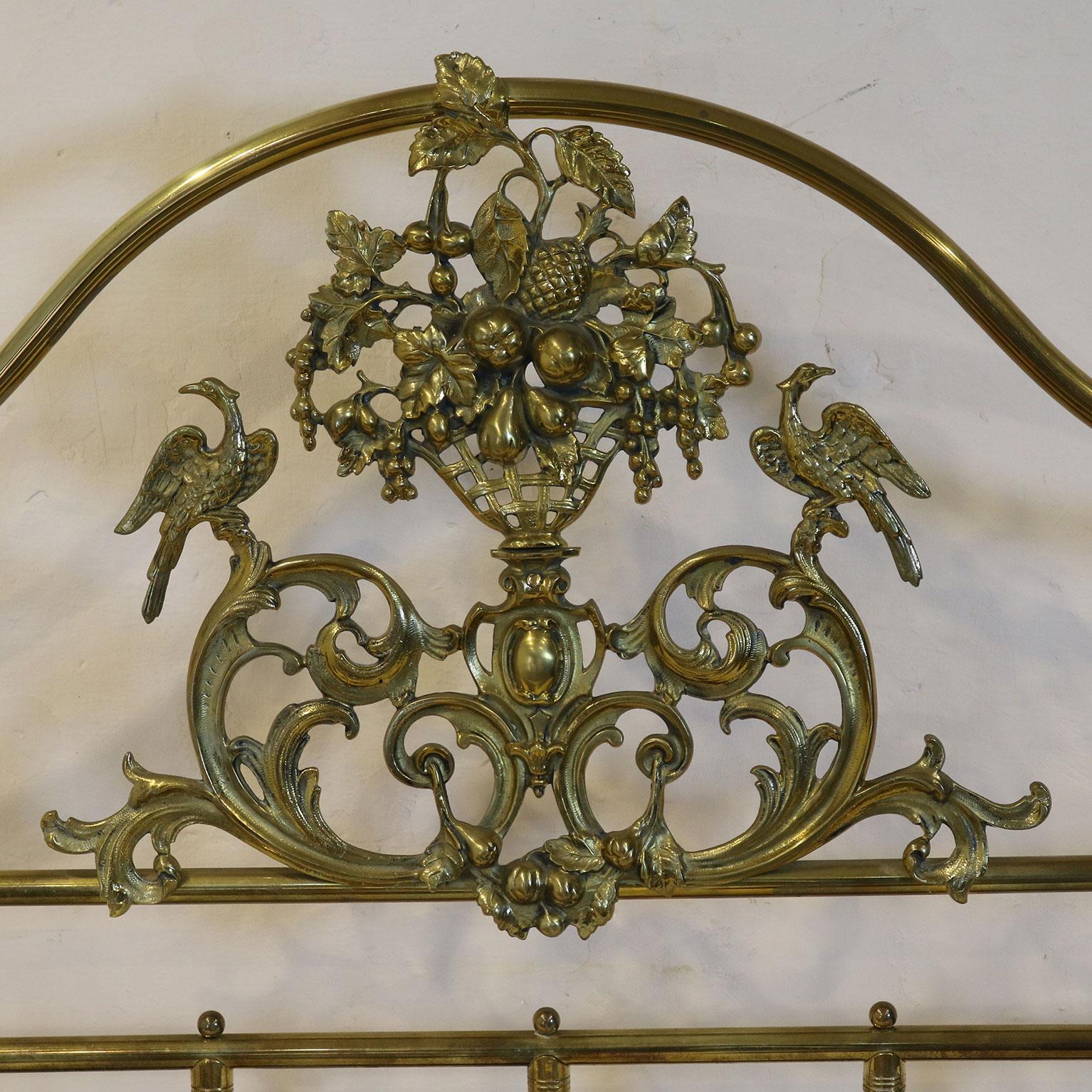 Ornate Brass Bed Mk109