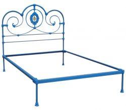 MK110 blue platform bed