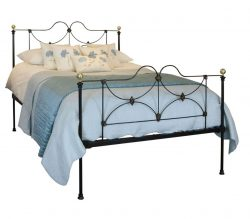 Cast Iron Antique King Bed in Black