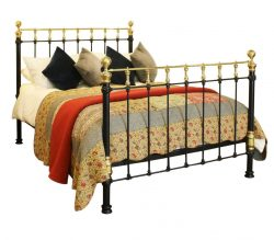 Cast Iron and Brass Bedstead, MK128