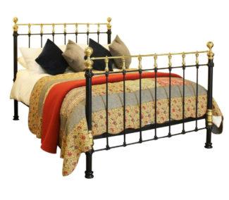 Cast Iron and Brass Bedstead, MK128