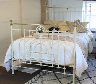 Decorative cream antique bed