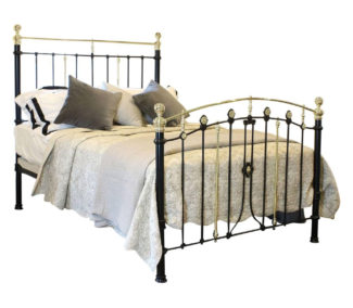 Decorative Black Brass and Iron Bed, WK130