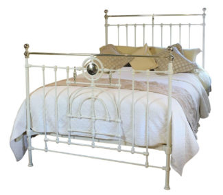 Decorative Cream Brass and Iron Bed, WK133