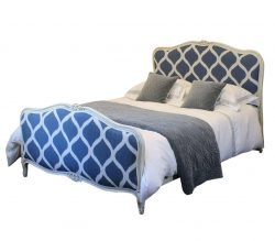 Upholstered Bed with Painted Frame, WK89