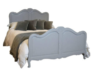 Painted-Louis-XVI-Style-Bed-in-Soft-Grey-WK92