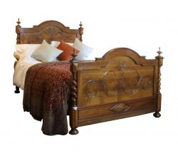 Walnut-Antique-Bed-WK93