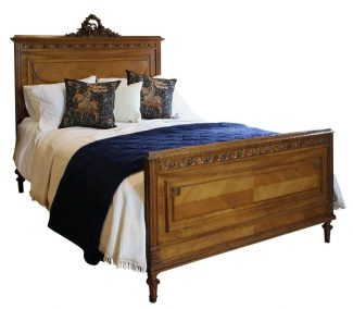Walnut Carved Bed, WK96