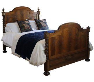 Walnut Antique Bed WK101