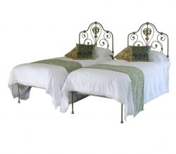 Pair of Single Metal Antique Beds