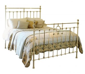 Cream Antique Bed MK149