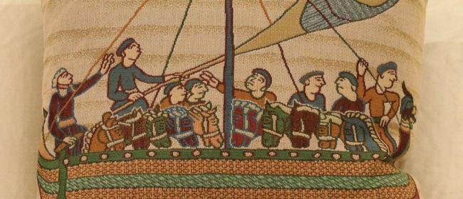 Tapestry Cushion – Bayeux Boatmen