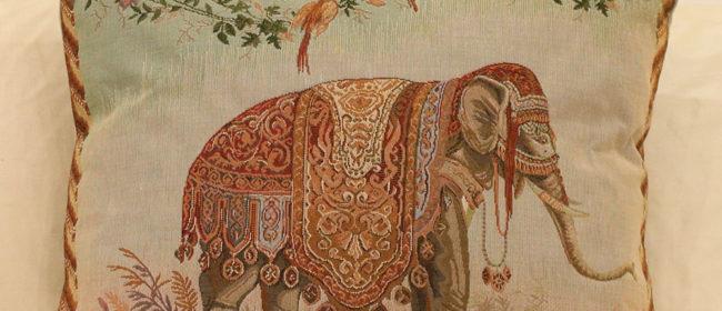 Tapestry Cushion – Elephant