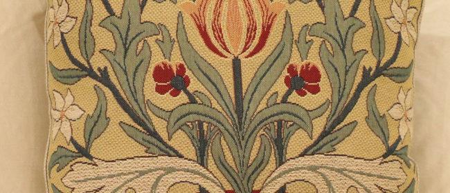 Tapestry Cushion – Morris Tulip