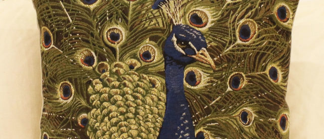 Tapestry Cushion – Peacock
