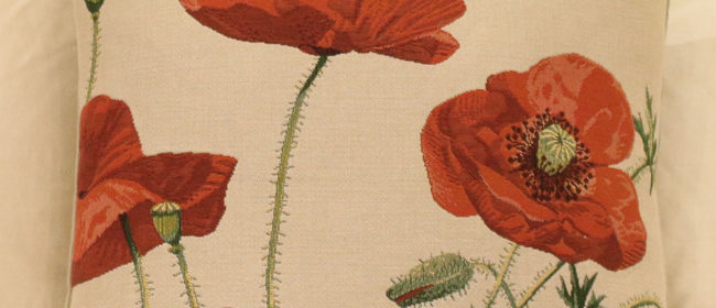 Tapestry Cushion – Wild Poppies