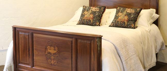 Mahogany Inlaid Bed – WK130