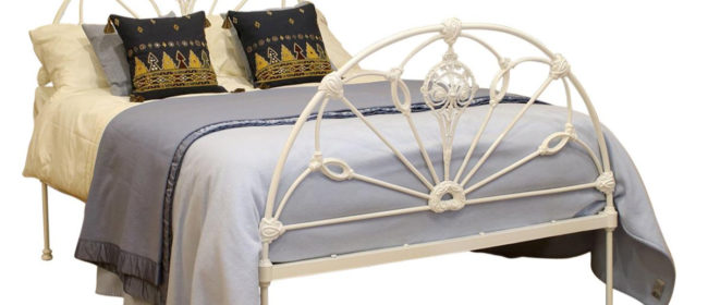 Winfield Double Cast Iron Antique Bed, MD95
