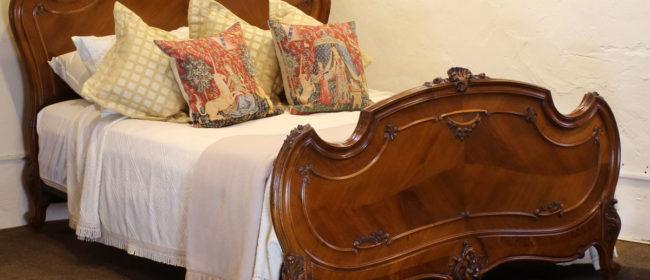 Louis XV Walnut Antique Bed WK141