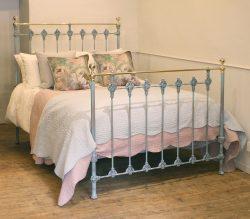 Blue Verdigris Double Antique Bed