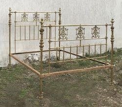 5ft-Wide-All-Brass-Antique-Bed-MK213