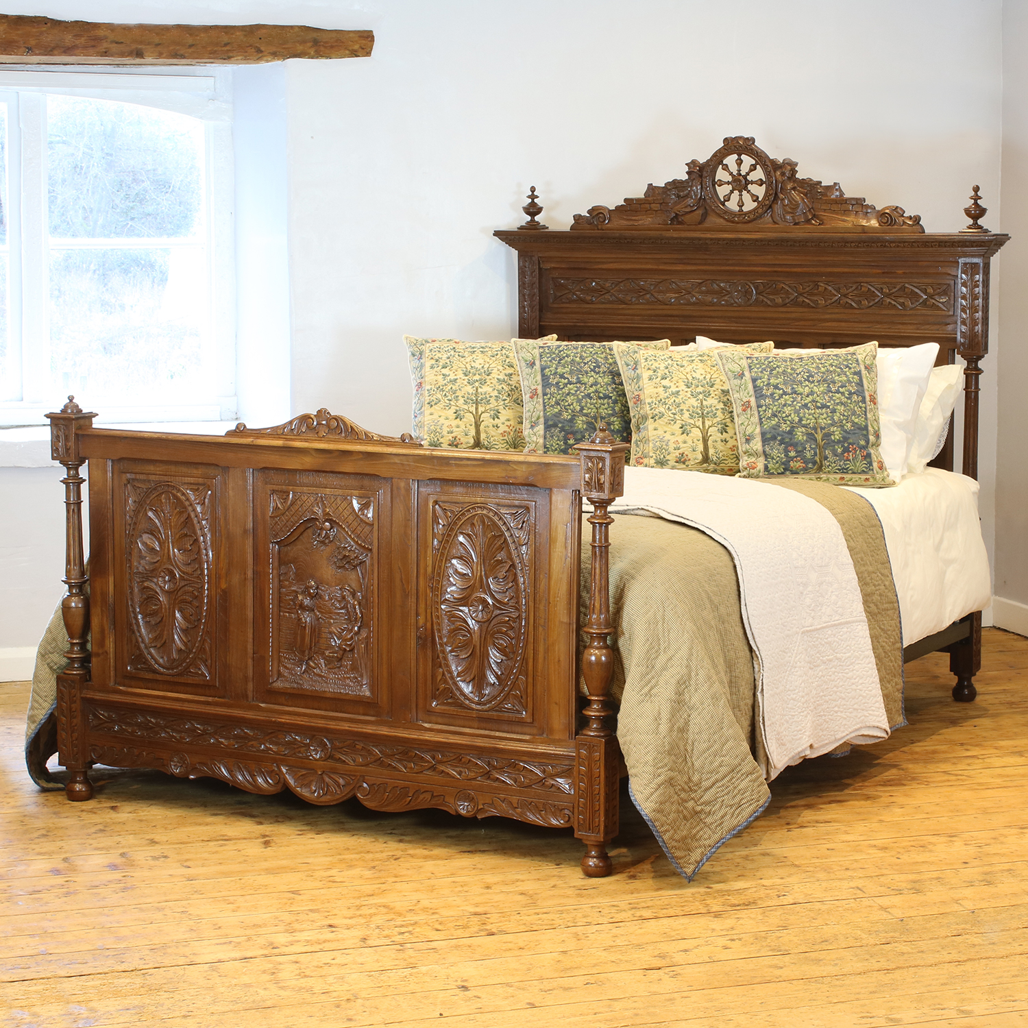 Oak Antique Bed