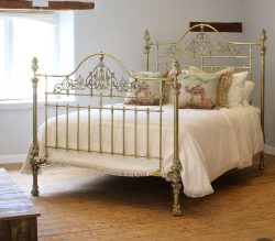 5ft-Ornate-All-Brass-Antique-Bed-MK225