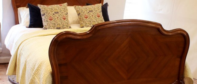 Louis XV King Size Walnut Antique Bed WK147