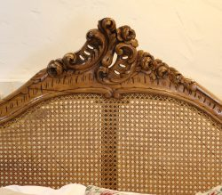 Rattan-Louis-XV-Style-King-Size-Walnut-Antique-Bed-WK149-1