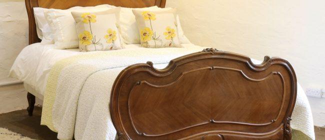 Louis XV Walnut Antique Bed WK152