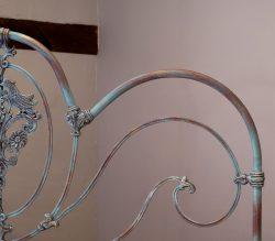 King-Size-Blue-Verdigris-Victorian-Brass-and-Iron-Platform-Bed-MK233
