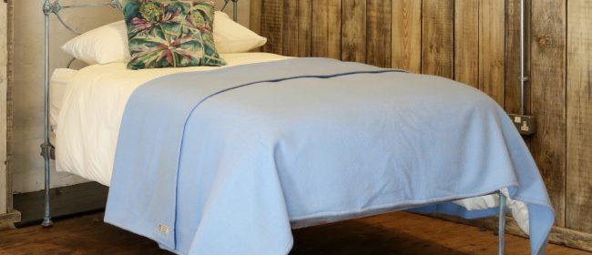 Blue Verdigris Platform Style Victorian Antique Single Bed MS46