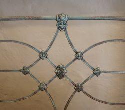 Platform-Style-Blue-Verdigris-Single-Antique-Bed-MS46