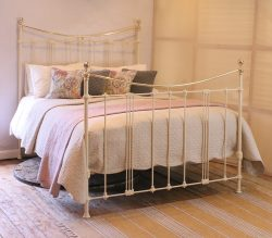 Cream King Size Antique Bed